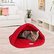 "Yuting Soft Warm Pet Dog Cat Bed House Plush Cozy Nest Mat Pad Cushion Pet Cave(XS 11"" X 15"" /S 15"" X 19""/M 19"" X 23"" /L 23"" X 27"")"
