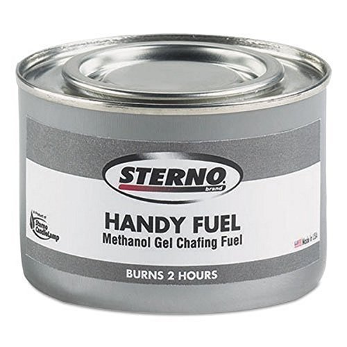 Sterno Handy Fuel Methanol Gel Chafing Fuel, Two Hour Burn, 72 Fuel Chafing Cans, 189.9 G by Sterno