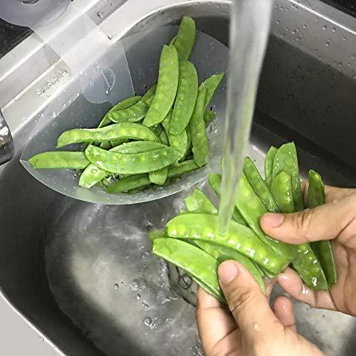 Kitchen Sink Strainers 2-Pack Folding Filter Bag Sponge Holder Garbage Stopper Waste Food Strainer