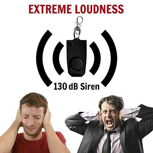 (Elevin(TM)  Anti-Rape Device Alarm Loud Alert Attack Panic Keychain Safety Personal)