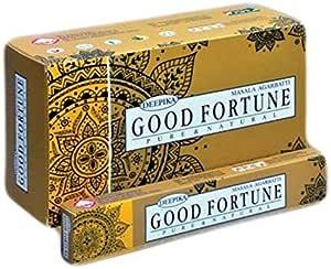 ABN Fashion Deepika Good Fortune Incense Sticks Agarbatti Indian Natural Fragrance Pack of 12