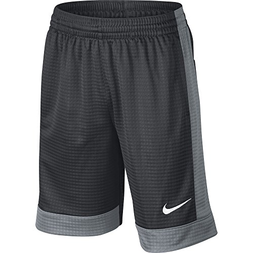 NIKE Boys' Assist Shorts, Anthracite/Cool Grey/Cool Grey/White, Medium