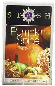 Stash Tea Decaf Pumpkin Spice Tea, 18 Count Tea Bags in Foil (Pack of 6)