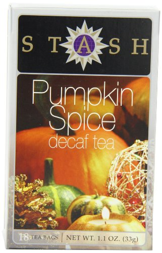 Stash Tea Decaf Pumpkin Spice Tea, 18 Count Tea Bags in Foil (Pack of 6)