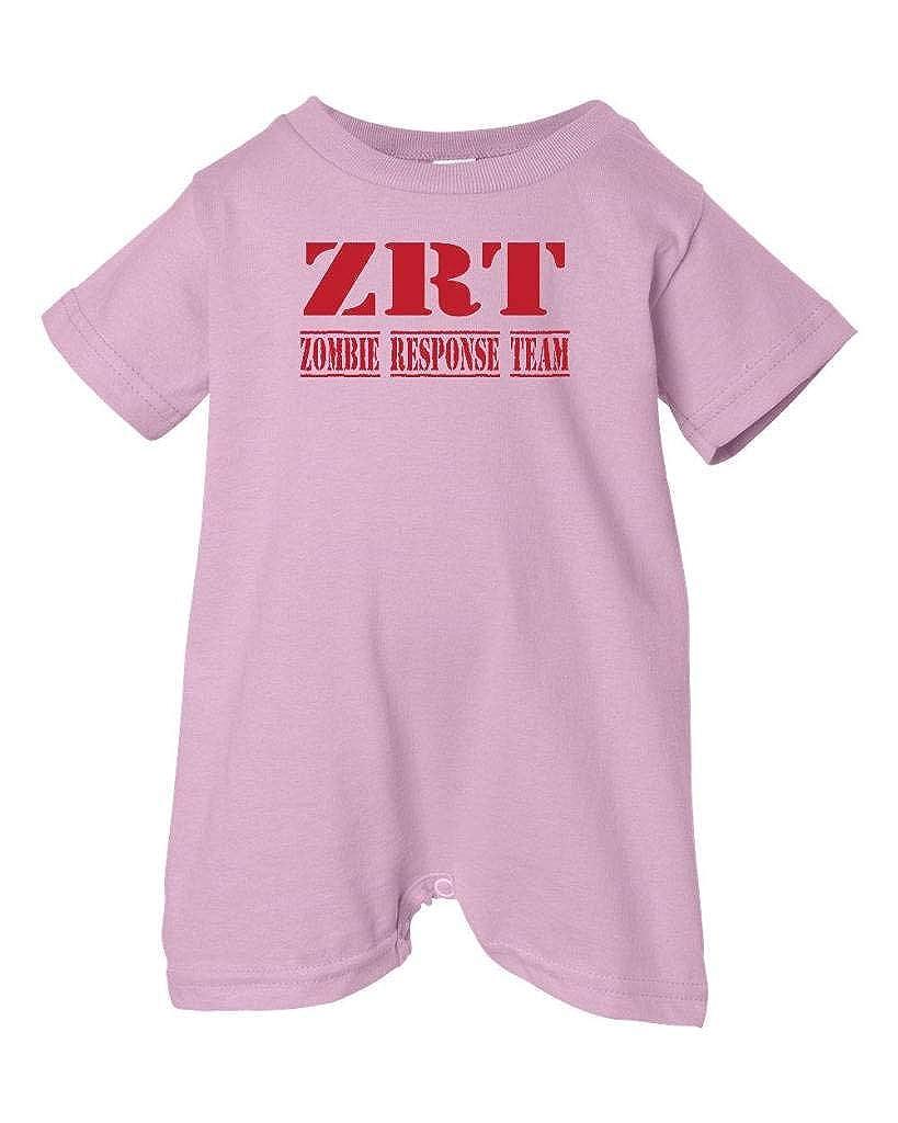 Red Pink, 18 Months Zombie Underground Unisex Baby Zombie Response Team T-Shirt Romper