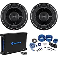2 Rockford Fosgate P3SD2-12 P3SD412 12 800W Car Subs+750W RMS Amplifier+Amp Kit