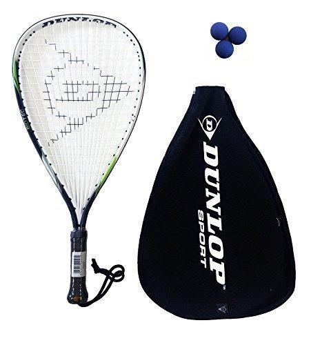 Dunlop Biotec Titanium Racketball Racket + 3 Balls