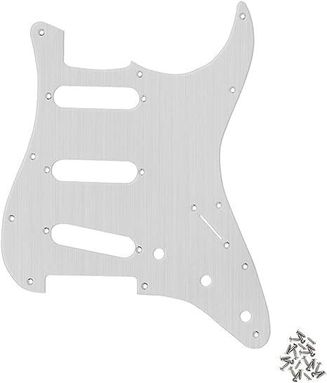 Schlagbrett Für Stratocaster SSS in Schwarz 11 Löcher