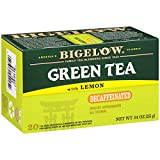 Bigelow Decaffeinated Green Tea with Lemon, 20 Count (Pack of 6), 120 Teabags Total