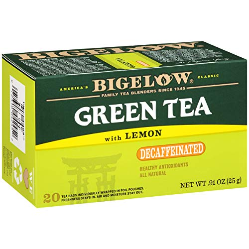 (Bigelow Decaffeinated Green Tea with Lemon, 20-Count Boxes (Pack of 6))