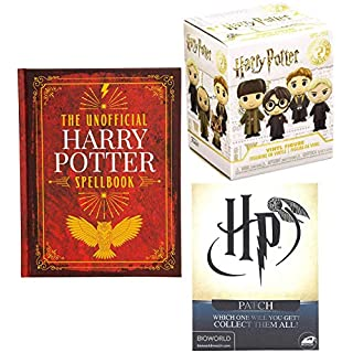 Magic & Characters Vinyl Figure Harry Potter Mystery Minis Bundled with Ultimate Spellbook Hardcover + Quidditch Blind Patch 3 Pcs