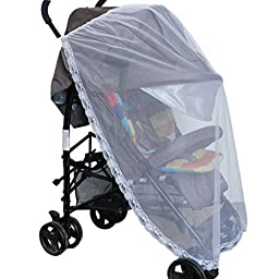 Sunward Hot Universal Lace Safe Baby Carriage Insect Mosquito Net Baby Stroller Bed Net