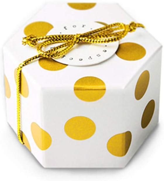 TOYANDONA Caja Hexagonal de Dulces para la Fiesta de cumpleaños de 20 Piezas para la Fiesta de cumpleaños de Boda - Sin Tarjeta ni Hilo de Oro: Amazon.es: Juguetes y juegos