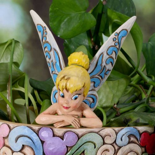 Jim Shore Disney Traditions Tinker Bell máscara de Subred Character Plant jardín 4027153: Amazon.es: Hogar