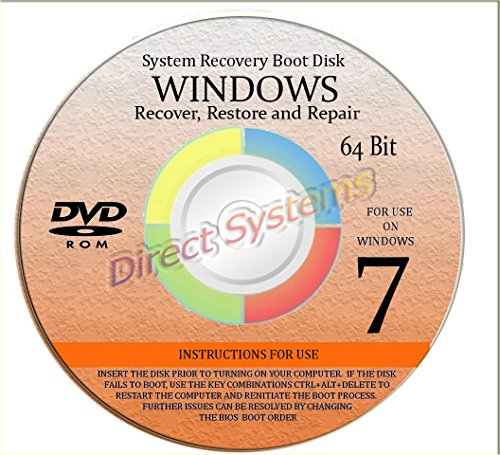 BOOT DISK for RESTORE & RECOVERY for WINDOWS SEVEN 64 bit