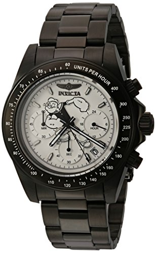 Invicta Men's Character Collection Quartz Watch with Stainless-Steel Strap, Black, 20 (Model: 24485)