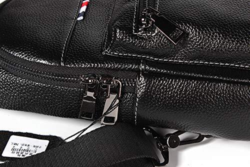 Mode Pour Payonr Dos Bandoulière Multifonction Sac Sports Cuir noir De À Plein D'épaule En Hommes Air Rqf6xqYr