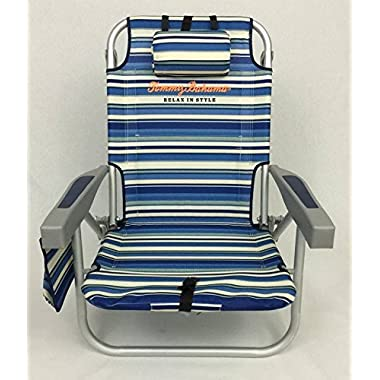 Tommy Bahama Backpack Beach Chair (Blue/White)