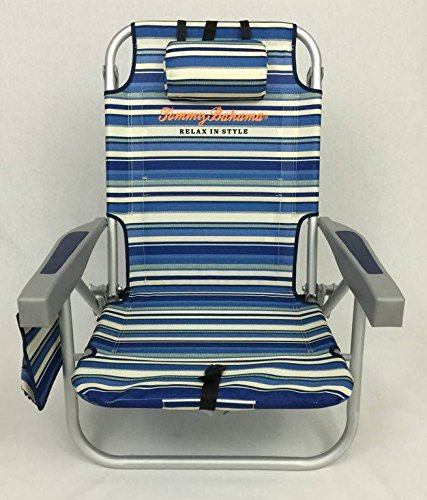 Amazon.com : Tommy Bahama Backpack Cooler Chair With Storage Pouch And  Towel Bar : Camping Chairs : Sports U0026 Outdoors
