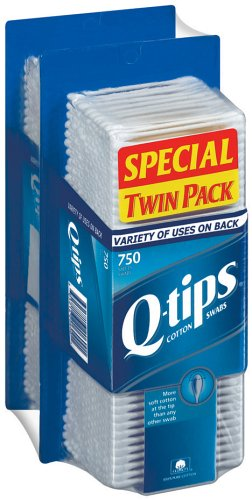 Q-tips Cotton Swabs, 750-Count Boxes in 2-Count Packages (Pack of 2)