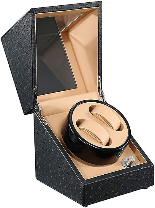 L-life Cajas giratorias Estuche Caja de enrollador de Reloj automático Doble for 2 Relojes de Pulsera, 5 Modos, Motor silencioso, Adecuado for señoras y Hombres, Regalo (Color : G): Amazon.es: Hogar
