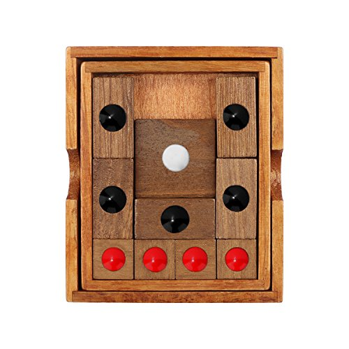 Block Puzzle Game Wooden Sliding Puzzles Classic Handmade 3D Brain Teaser Interlocking Klotski Toy Gift for Adults