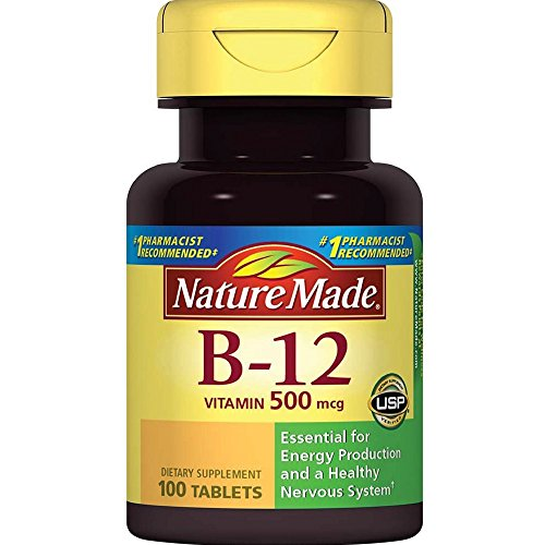 Nature Made Vitamin B12 500 mcg. Tablets 100 Ct