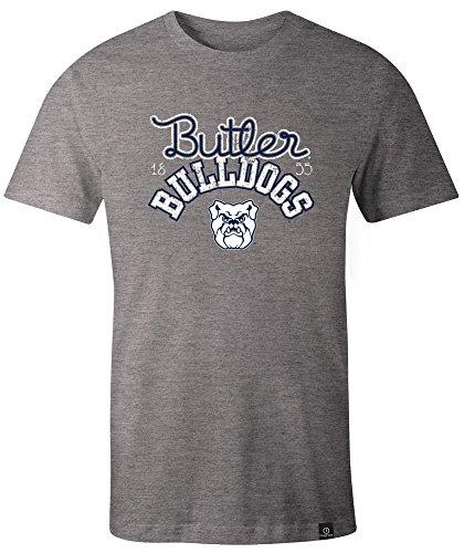 NCAA Butler Bulldogs Adult Women NCAA Classic Arch Script Image One Women's Triblend Short sleeve T-Shirt, Large,HeatherGrey
