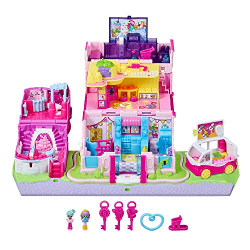 Shopkins Lil' Secrets Secret Small Mall Multi Level Playset with Grocery Store, Fashion Boutique & Ice Cream ()