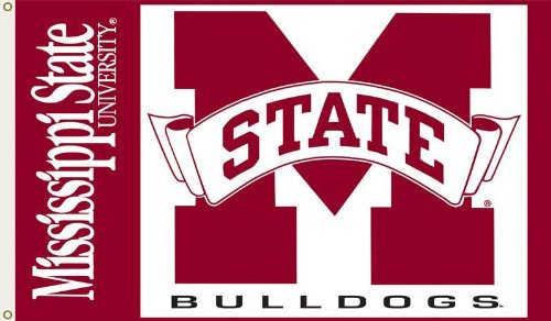 NCAA Mississippi State Bulldogs 3-by-5 Foot Flag with Grommets (Mississippi State Bulldogs Clocks)