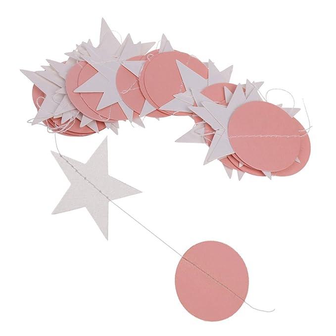 Papier Wimpelkette Wimpelgirlande Girlande Party Dekoration Rund Stern Form