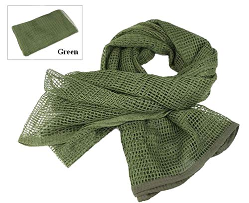 Tactical Mesh Net Camo Scarf For Wargame,Sports & Other Outdoor Activities (Green)