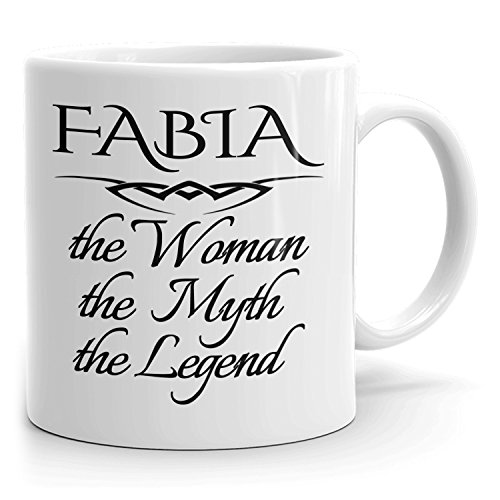 Best Personalized Womens Gift! The Woman the Myth the Legend - Coffee Mug Cup for Mom Girlfriend Wife Grandma Sister in the Morning or the Office - F Set 2