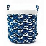 Maika Recycled Canvas Bucket, Boho Blue (Small)