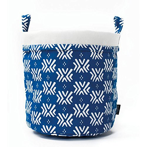 Maika Recycled Canvas Bucket, Boho Blue (Small)