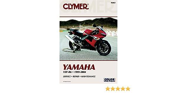amazon com clymer repair manual for yamaha yzf r6 r 6 99 04 rh amazon com 2001 yamaha r6 owners manual 2001 r6 service manual pdf
