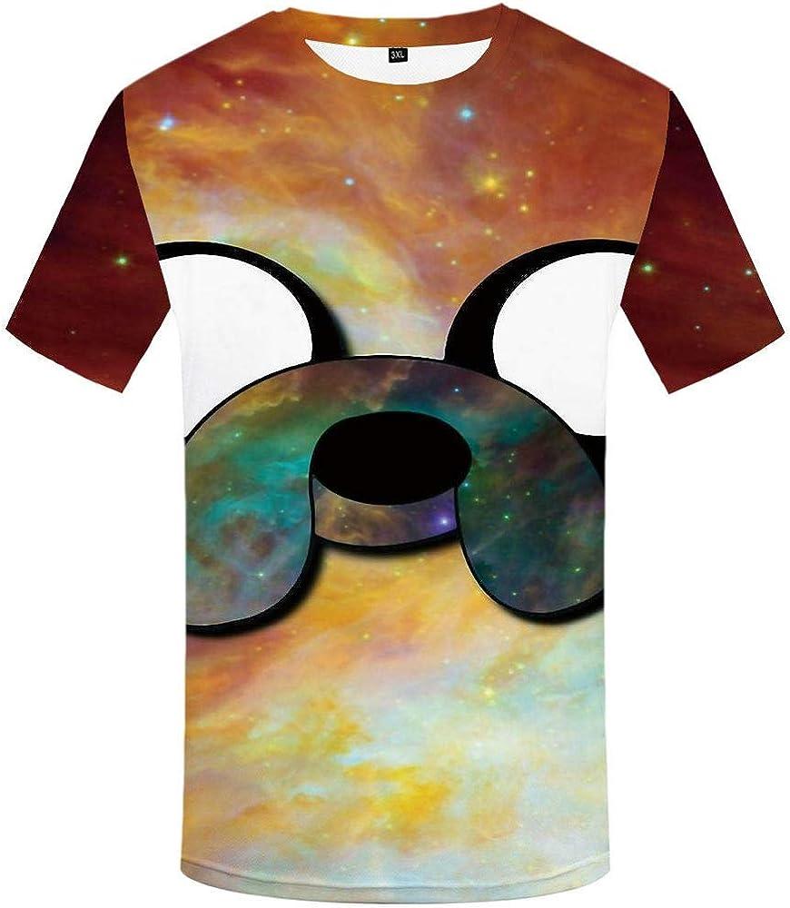 Impression Num/érique 3D Doux Et Confortable WHLTX T-Shirt Cr/éatif Manches Courtes Grande Taille /À S/échage Rapide
