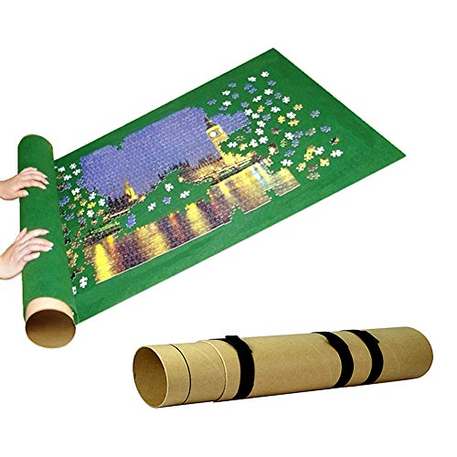 Bidlsbs Jigsaw Puzzle Roll Up Mat Blanket Puzzle Storage Mats Tour Desk Mat with Telescoping Tube 1000 Pieces Puzzle Saver