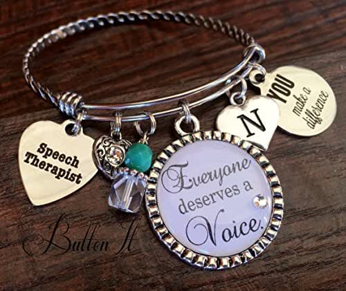 Speech therapist gift, OT, Everyone deserves a voice, speech language pathologist, therapist gift, thank you gift, behavior therapist