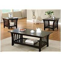 247SHOPATHOME (2+1) Idf-4146(2+1) Living-Room-Table-Sets, Black