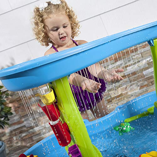 5199Se9yV5L - Step2 Rain Showers Splash Pond Water Table | Kids Water Play Table with 13-Pc Accessory Set