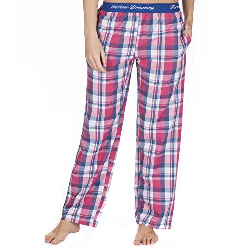 elastico Dreaming in da Forever vita pigiama pantaloni Royal tessuto donna jacquard in amp; del con Pink BaxaCqw1