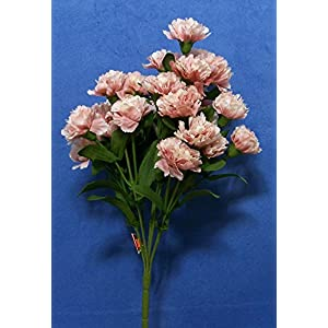 "Quality 13"" Pink Carnation Artificial Faux Silk Flower Spray 53"