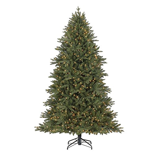 Evergreen classics Colorado Spruce 6.5 ft Artificial Pre-Lit Christmas Tree w/500 Clear Lights & Folding Metal Stand