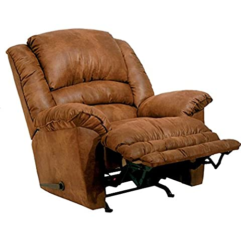 CATNAPPER 47182230744 Revolver Chaise Rocker Recliner with Heat and Massage, Tan (Catnapper Recliner Rocker)