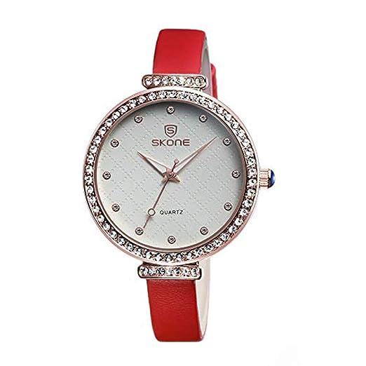 Hermosos Relojes Damas Cinturon Gran Dial Reloj con Diamantes Ingles Watch Reloj Luminoso: Amazon.es: Relojes