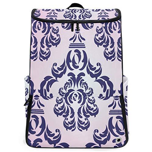 (Travel Backpack Damask Vector Pattern Sprot Backpack for Women Big Hunting Daypack)
