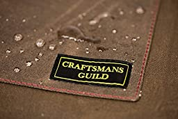 Craftmans Guild Waxed Canvas Apron (Leather Straps)