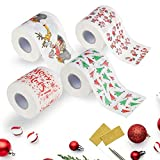 Sameno Christmas Toilet Roll Paper,Home Santa Claus Bath Toilet Roll Paper Christmas Supplies Xmas Decor Restaurant