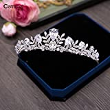 Quantity 1x /Korean Bridal _zircon_ Crown Tiara Party Wedding Headband Women Bridal Princess Birthday Girl Gift necklace Headdress _three_sets_ marriage Wedding dress _